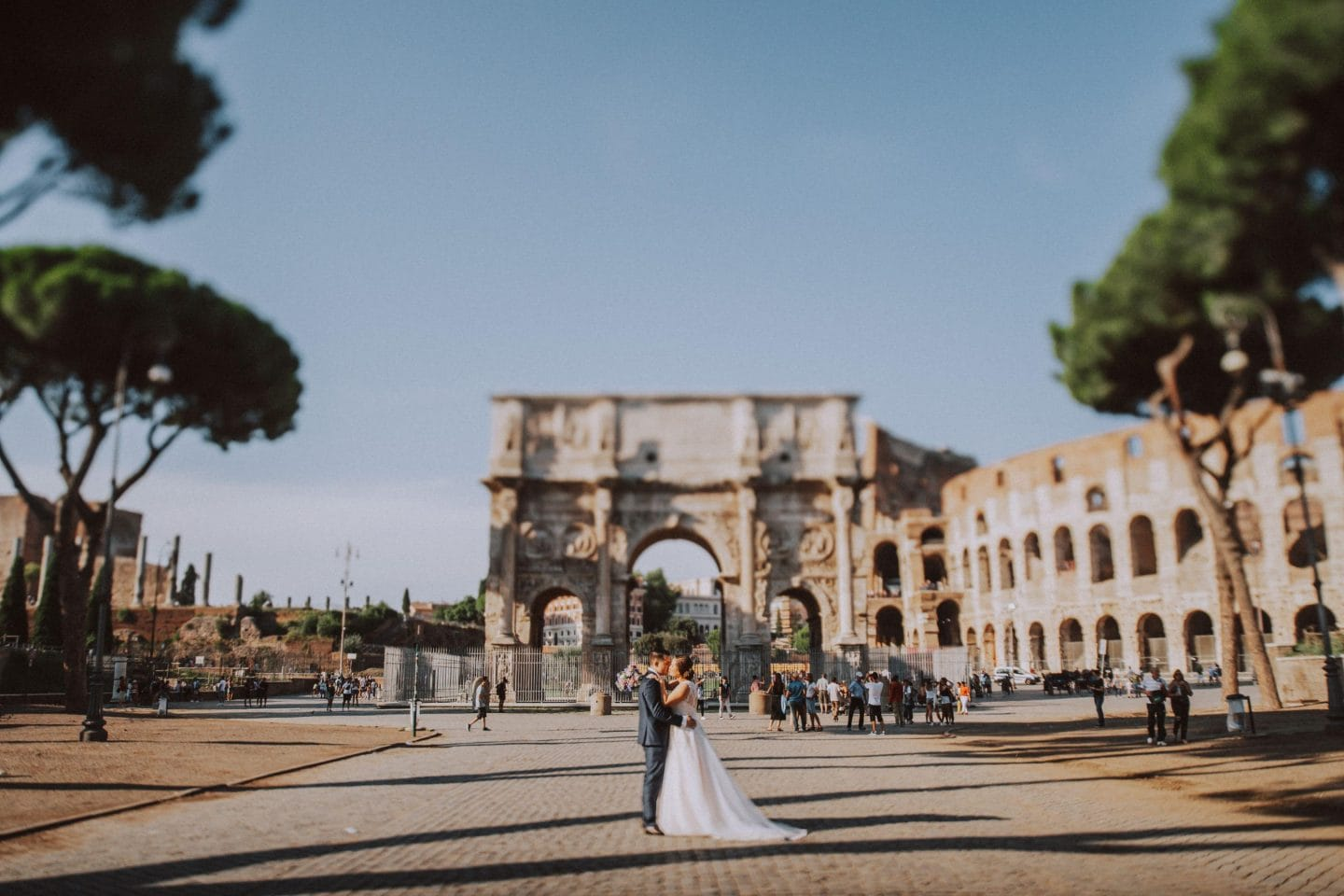 intimate wedding photographer rome italy